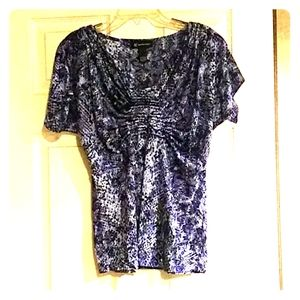 I.N.C. pleated front top